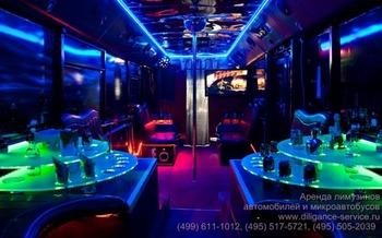 Аренда автомобиля Night Party Bus  с водителем 8