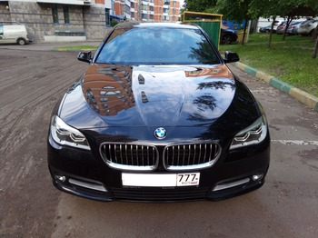 Аренда автомобиля BMW-520  с водителем