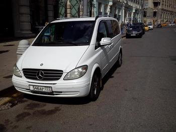 Аренда автомобиля Mercedes Viano (белый) с водителем 2