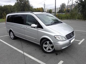 Аренда автомобиля Mercedes-Benz Vito серебро с водителем