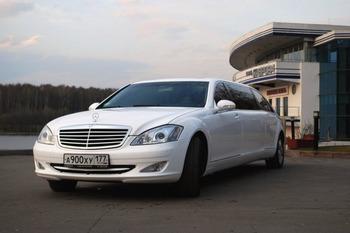 Аренда автомобиля Лимузин Mercedes Pullman S221  с водителем 2