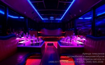 Аренда автомобиля Night Party Bus  с водителем 3