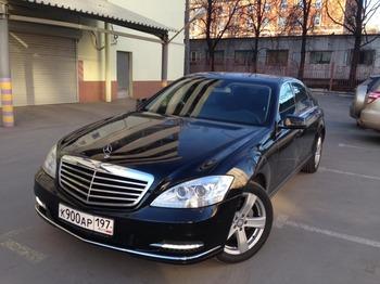 Аренда автомобиля Mercedes S221  с водителем