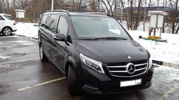 Аренда автомобиля Mercedes V-class  с водителем