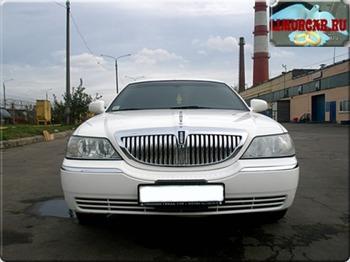 Аренда автомобиля Лимузин Lincoln Town Car белый 13  с водителем