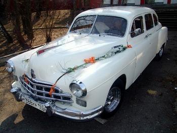 Аренда автомобиля ЗИМ белый  с водителем 2