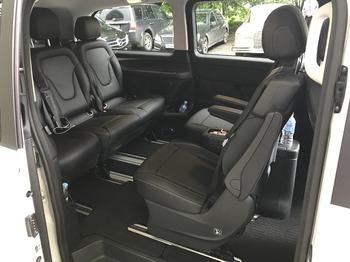 Аренда автомобиля Мерседес V-класс (белый) с водителем 4