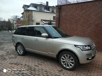 Аренда автомобиля Range Rover с водителем