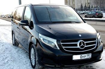 Аренда автомобиля Mercedes V-класс  с водителем