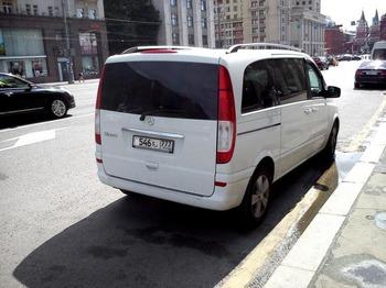 Аренда автомобиля Mercedes Viano (белый) с водителем 1